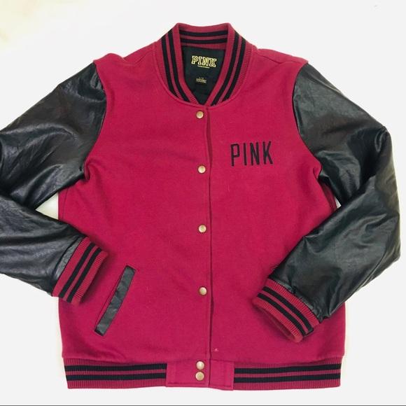 PINK Victoria's Secret Jackets & Blazers - PINK Victoria's Secret ruby red varsity jacket
